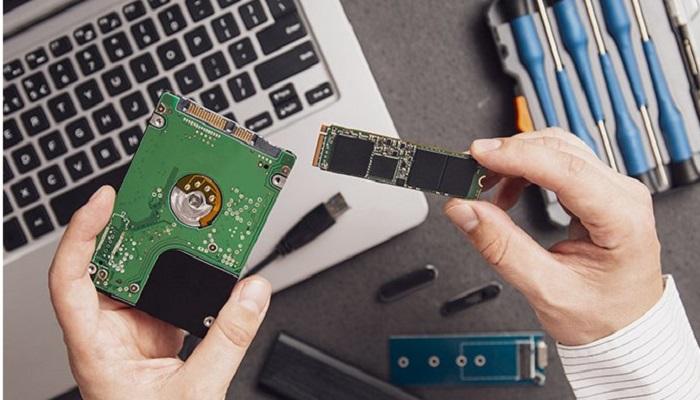 اندازه حافظه SSD در برابر انواع HHD