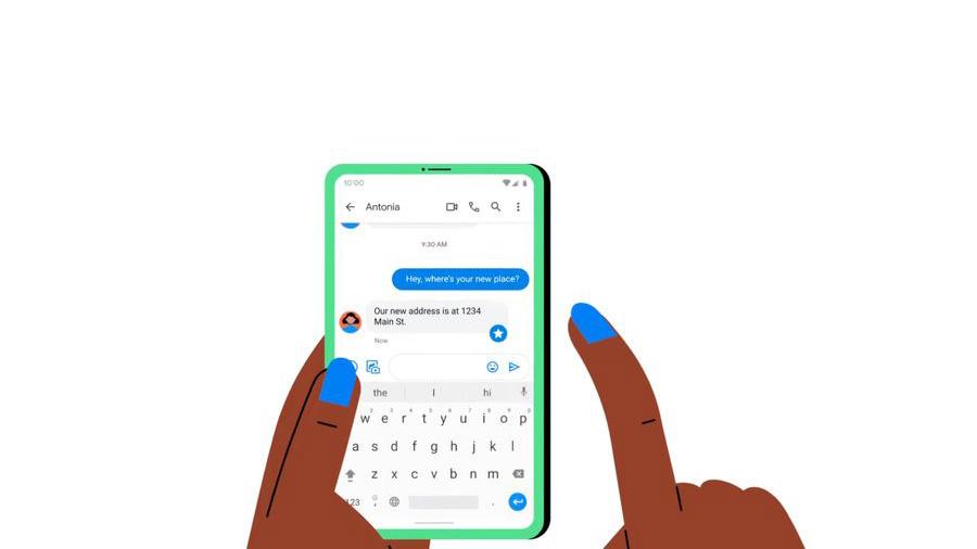 ستاره دار کردن پیام Google Messages